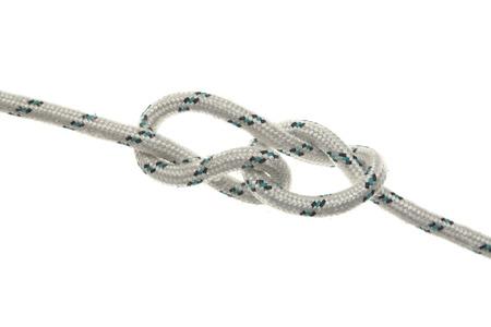 ahorcado: Colgantes lazo de cuerda aisladas sobre fondo blanco.