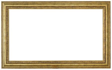 marcos decorativos: Marco del oro. parches aislados y sobre el fondo blanco Foto de archivo