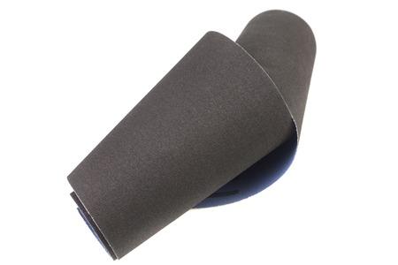 sandpaper: Emery paper - sandpaper,  isolated on white