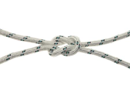 Hanging noose de corde isolé sur blanc. Banque d'images - 50338524