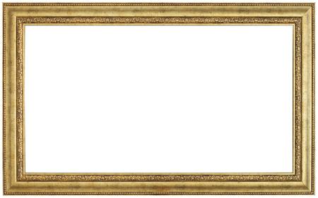 Or cadre photo. timbre isolé et sur fond blanc Banque d'images - 50337200
