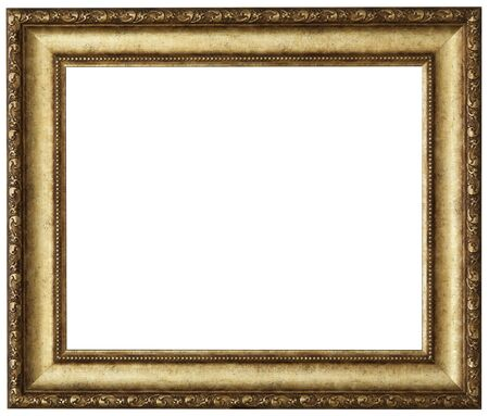 Or cadre photo. timbre isolé et sur fond blanc Banque d'images - 50338032