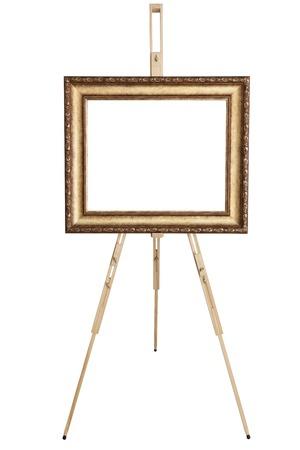 Frame Blank art, chevalet en bois, vue de face, isolé sur blanc, inclus chemin de détourage Banque d'images - 50338035