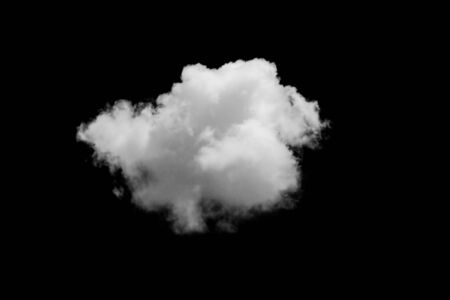 over black: Set of isolated clouds over black. Design elements Stock Photo