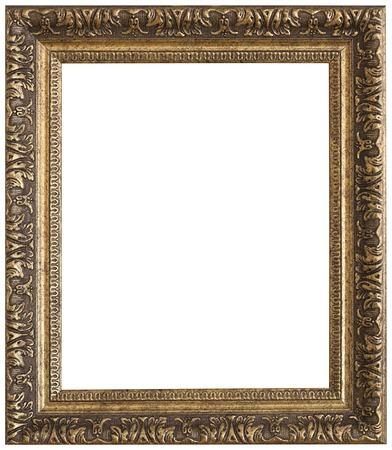 Or cadre photo. timbre isolé et sur fond blanc Banque d'images - 50338098