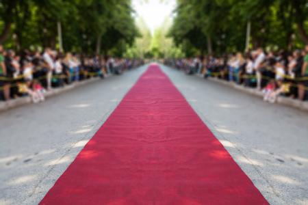 Tapis rouge classique sur rue Banque d'images - 50338133