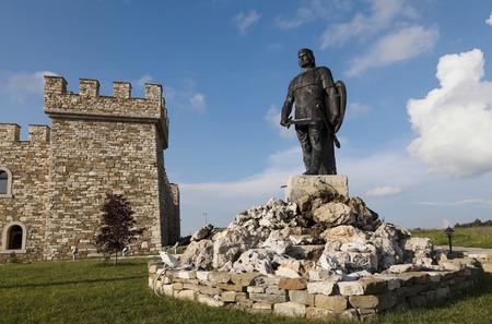 Monument - hôtel Kaloyanova forteresse, Bulgarie, extérieur Banque d'images - 50338134
