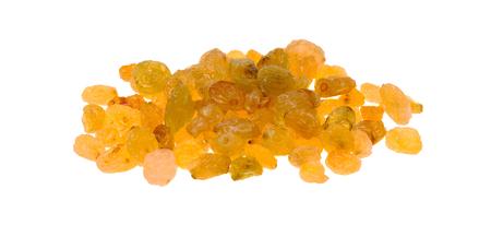 Or raisins isolés sur un fond blanc Banque d'images - 50338185
