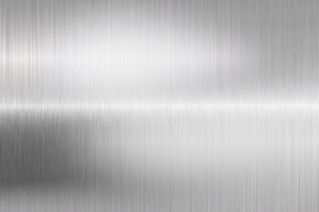 shiny metal: brushed metal structure closeup Stock Photo