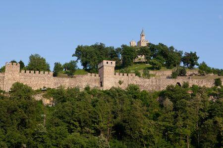 veliko: Old Tsarevets Fortress in Veliko Turnovo, Bulgaria Stock Photo