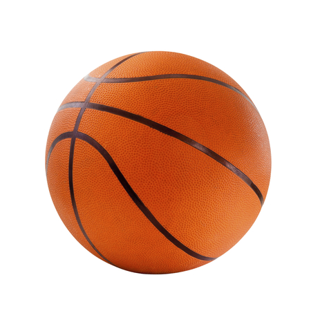 basketball ball: Orange  basket ball, isolated in white background and path