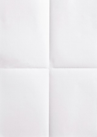 paper: white sheet of paper folded in four