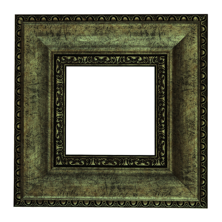 gold picture frame: Gold picture frame. Isolated path and over white background Stock Photo