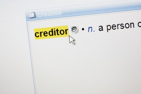 creditor: Highlighted word Creditor - definition in a dictionary