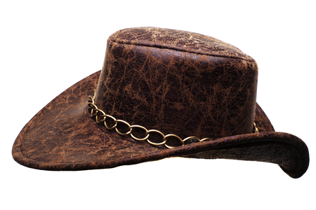 stetson: brown cowboy hat isolated on white background