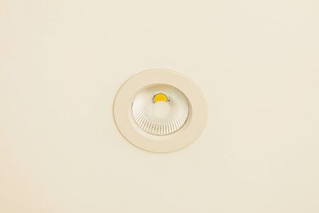 metall lamp: The built in LED lamp in a ceiling