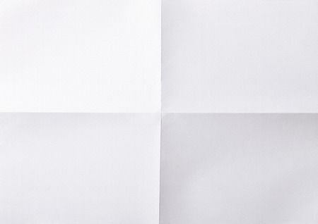 white sheet: white sheet of paper folded in four