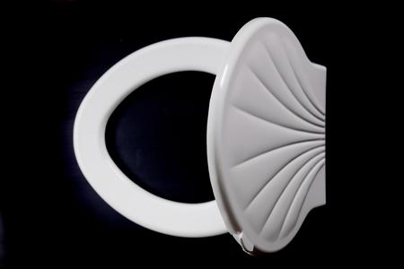 lav: White Toilet  plate isolated   black