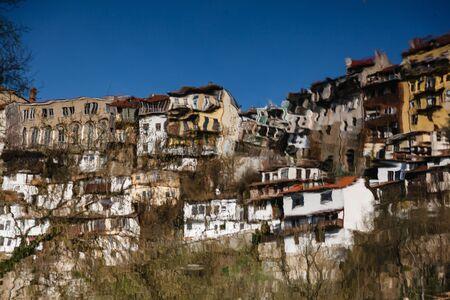 veliko tarnovo: Reflection in the water of river Yantra Veliko Tarnovo