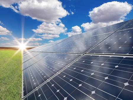 paneles solares: Planta de energía utilizando la energía solar renovable