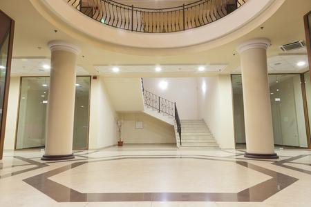 upper class: interior - lobby of a upper class shopping mall