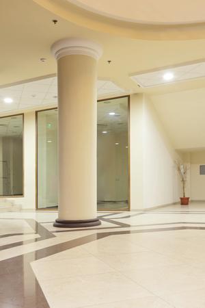 interior - column of a upper class shopping mall