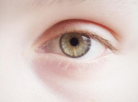 children's eye. high key, selective focus 写真素材