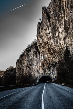 Tunnel onderweg Stockfoto