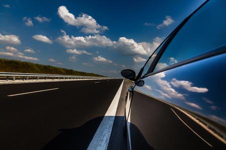 Newly built highway Bulgaria Stok Fotoğraf