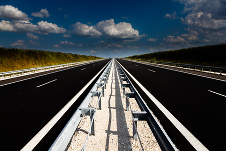 Newly built highway Bulgaria Stockfoto