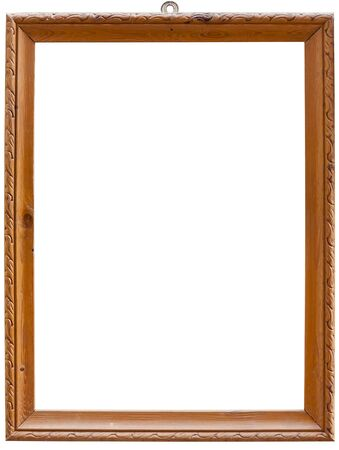 Old wooden frame isolated on white with clipping path Standard-Bild