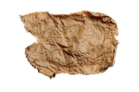 nota de papel: hoja de papel de envolver arrugado amarillo Foto de archivo