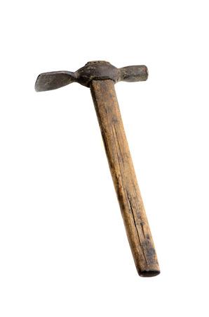 stonemason: Old hammer stonemason on a white background Stock Photo