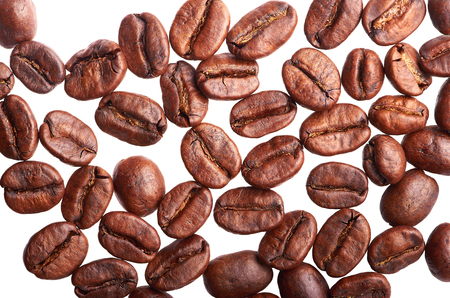 roasted coffee on a white background isolated Stock Photo