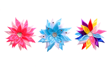colored barrettes with shiny stones