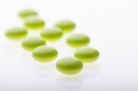 group therapy: pills in perspective Stock Photo