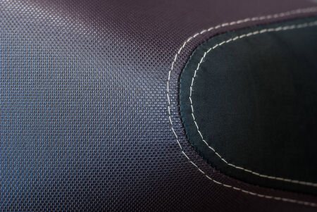 An motocycle seat with detail photo