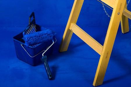 Ladder, roller brush, bucket Stock Photo - 4143893