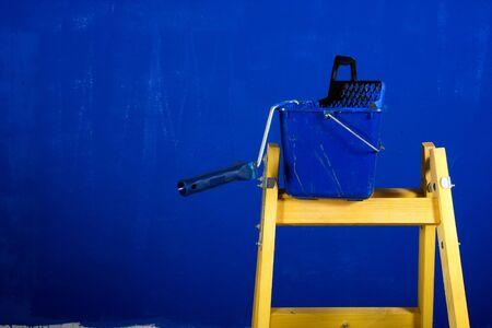 Ladder, roller brush, bucket Stock Photo - 4143889