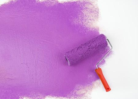 Magenta paint roller