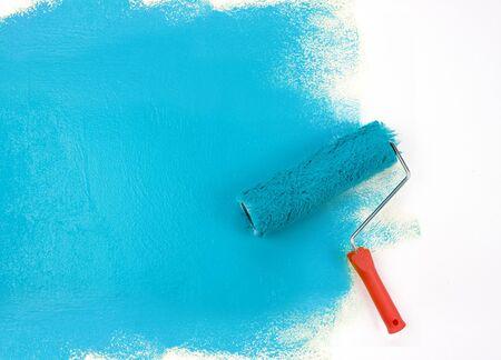 Blue paint roller Stock Photo - 4143925