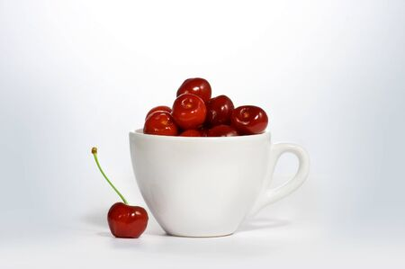Cherry in cup photo