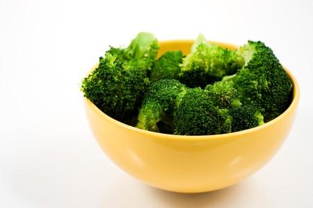 Broccoli in bowl Stock Photo