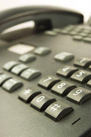 isdn: Closeup of Black phone Stock Photo