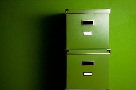 Green boxes Stock Photo