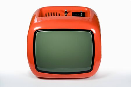 Red old retro television