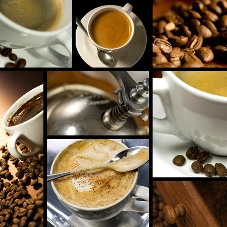 coffee time: Coffee themed collage, coffee time, relax