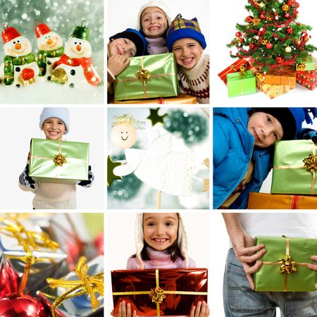 Beautiful christmas collage photo