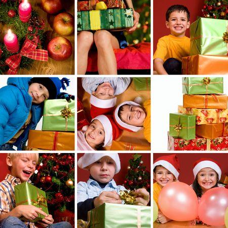 Beautiful christmas collage Stock Photo
