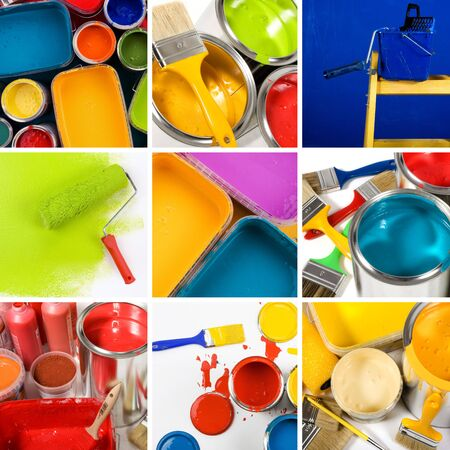Beautiful painting collage Stock Photo - 4668897